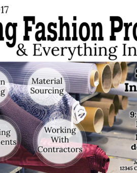 Upcoming Event: Mastering Fashion Production
